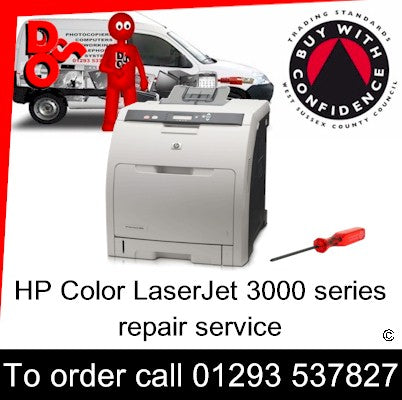 Service HP Color LaserJet 3000 series On-site Printer Repair West Sussex and Surrey