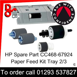 Paper Feed Kit T2, T3 HP Spare Part CC468-67924 Kit Contains (1x RL1-2099-000, 2x RM1-0037-020, 1x RM1-4968-040, 1x RM1-4966-020)
