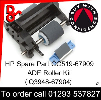 HP Spare Part Paper Feed, ADF, CC519-67909, Q3948-67904 ADF Roller Kit sales Crawley West Sussex and Surrey