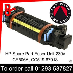 HP Spare Part, Fuser Unit, CE506A, CC519-67918 New Fuser 230v for sale Crawley West Sussex and Surrey