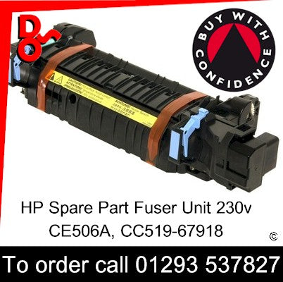 HP Spare Part, Fuser Unit, CE506A, CC519-67918 Refurbished Fuser 230v for sale Crawley West Sussex and Surrey