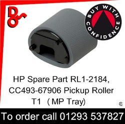 HP Spare Part Paper Feed, CC493-67906, RL1-2184, RL1-2184-000 Paper Pickup Roller T1 (MP Tray) sales Crawley West Sussex and Surrey