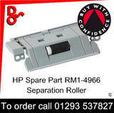 HP Spare Part Paper Feed, RM1-4966, RM1-4966-000 Separation Roller Assembly T2, T3 sales Crawley West Sussex and Surrey