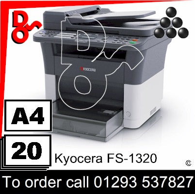 NEW Kyocera FS-1320 Mono Multi-Funtion A4 Printer & Colour Scanner UK Next day delivery Crawley West Sussex and Surrey
