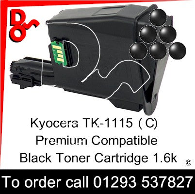 Kyocera TK-1115, TK1115 Genuine Toner Cartridge (K) Black 1.6k 1T02M50NL0 next day UK Nationwide call 01293 537827