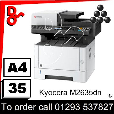 Kyocera M2635dn Mono Multi-Funtion A4 Printer & Colour Scanner - 1102S13NL0 UK Next day delivery