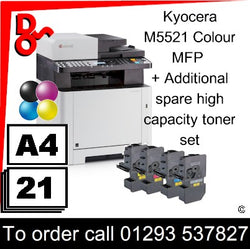 """Special Offer"" NEW Kyocera M5521cdn Colour A4 MFP Printer plus toner set Crawley West Sussex and Surrey"