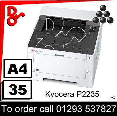NEW Kyocera P2235dn Mono A4 Printer - 1102RV3NL0 Crawley West Sussex and Surrey