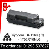 Kyocera TK-1160(C) Toner (K) Black 7.2k Premium Compatible - 1T02RY0NL0(C) UK next week day delivery