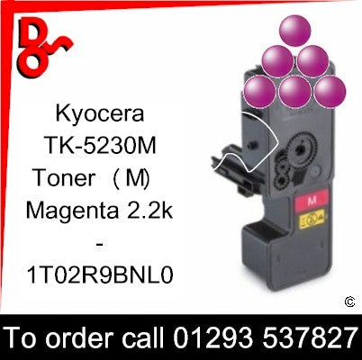 Kyocera P5521, M5521 Premium Compatible Toner Cartridge (M) Magenta 2.2k 1T02R9BNL0 next day UK Nationwide call 01293 537827