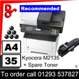 """Special Offer"" NEW Kyocera M2135dn Mono Multi-Funtion A4 Printer - 1102S03NL0 + spare toner"