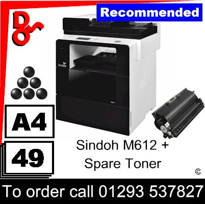 """Special Offer"" NEW Sindoh M612 A4 Mono MFP Multi-Function Printer Photocopier + spare toner"