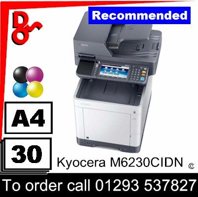 """New"" Kyocera M6230CIDN A4 Colour Laser Multifunction - 1102TY3NL1"