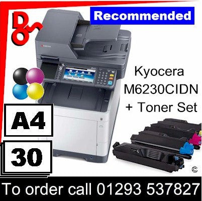 """Special Offer"" ""NEW"" Kyocera M6230CIDN A4 Colour MFP - 1102TY3NL1 + spare toner"