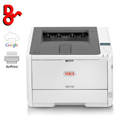 Printer Mono A4 OKI B412dn LED Laser Printer 45858301