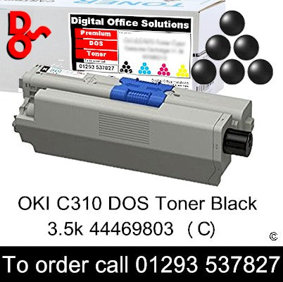 OKI C310 Toner 44469803 Black Toner Premium Compatible Quality Guaranteed for sale Crawley West Sussex and Surrey