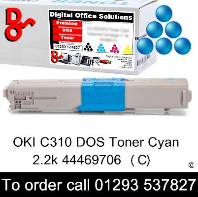 OKI C310 Toner 44469706 Cyan Toner Premium Compatible Quality Guaranteed for sale Crawley West Sussex and Surrey