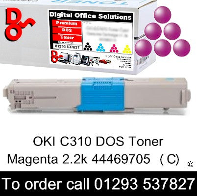 OKI C310 Toner 44469705 Magenta Toner Premium Compatible Quality Guaranteed for sale Crawley West Sussex and Surrey