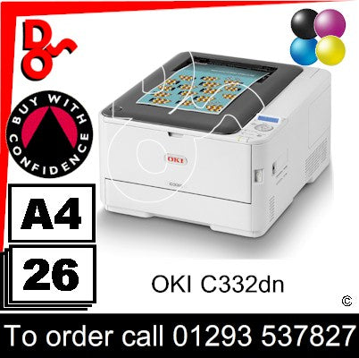 NEW OKI C332dn A4 Printer Colour LED Laser Printer - 46553101 UK Next day delivery Crawley West Sussex and Surrey