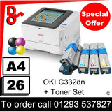"""Special Offer"" NEW OKI C332dn A4 Printer Colour LED Laser Printer - 46553101 UK Next day delivery Crawley West Sussex and Surrey"