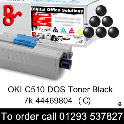 OKI C510 Black 44469804 Black Premium Compatible Toner Cartridge Quality Guaranteed for sale Crawley West Sussex and Surrey