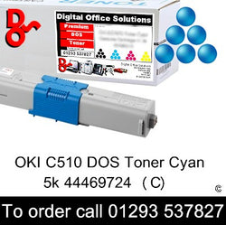 OKI C510 Toner 44469724 Cyan Premium Compatible Toner Cartridge Quality Guaranteed for sale Crawley West Sussex and Surrey