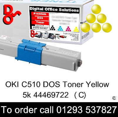 OKI C510 Toner 44469722 Yellow Premium Compatible Cartridge Quality Guaranteed for sale Crawley West Sussex and Surrey