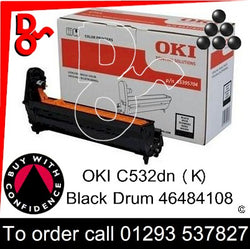 OKI C532 Drum (K) Black 30k Genuine OKI Drum EP Cartridge - 46484108  UK next day delivery Crawley West Sussex and Surrey