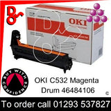 OKI C532 Drum (M) Magenta 30k Genuine OKI Drum EP Cartridge - 46484106 UK next day delivery Crawley West Sussex and Surrey