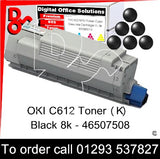 OKI C612 Premium Compatible Toner Cartridge (K) Black 8k 46507508 next day UK Nationwide call 01293 537827
