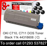 OKI C710 Toner 44318608 Black Premium Compatible Toner Cartridge Quality Guaranteed for sale Crawley West Sussex and Surrey