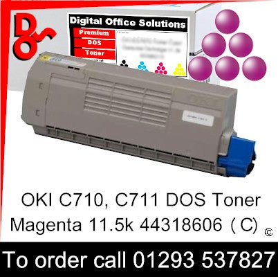 OKI C710 Toner 44318606 Magenta Premium Compatible Toner Cartridge Quality Guaranteed for sale Crawley West Sussex and Surrey