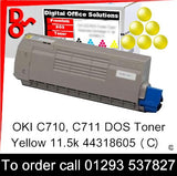 OKI C710 Toner 44318605 Yellow Premium Compatible Toner Cartridge Quality Guaranteed for sale Crawley West Sussex and Surrey