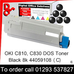 OKI C810 Toner 44059108 Black Premium Compatible Toner Cartridge Quality Guaranteed for sale Crawley West Sussex and Surrey