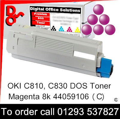 OKI C810 Toner 44059106 Magenta Premium Compatible Toner Cartridge Quality Guaranteed for sale Crawley West Sussex and Surrey