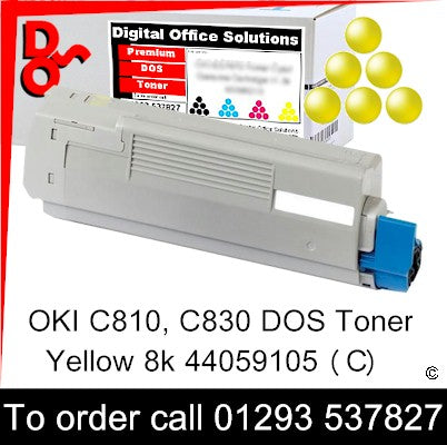 OKI C810 Toner 44059105 Yellow Premium Compatible Toner Cartridge Quality Guaranteed for sale Crawley west Sussex and Surrey