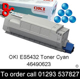 OKI ES5432 Toner 46490623 Cyan Genuine OKI Toner Cartridge for sale Crawley West Sussex and Surrey
