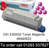 OKI ES5432 Toner 46490622 Magenta Genuine OKI Toner Cartridge for sale Crawley West Sussex and Surrey