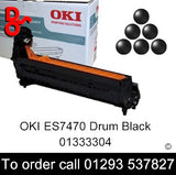 OKI ES7470 Drum 01333304 Black Genuine OKI Executive Series Toner Cartridge for sale Crawley West Sussex and Surrey
