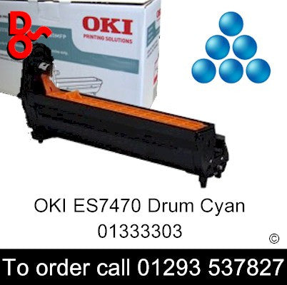 OKI ES7470 Drum 01333303 Cyan Genuine OKI Executive Series Toner Cartridge for sale Crawley West Sussex and Surrey