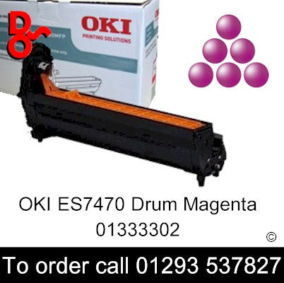 OKI ES7470 Drum 01333302 Magenta Genuine OKI Executive Series Toner Cartridge for sale Crawley West Sussex and Surrey