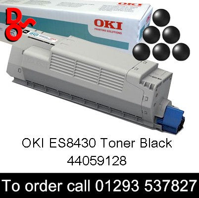 OKI ES8430 Toner 44059128 Black Genuine OKI Executive Series Toner Cartridge for sale Crawley West Sussex and Surrey, 7k yield, in stock, nationwide next day delivery reliable cartridges Reliable delivery every time
