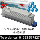 OKI ES8430 Toner 44059127 Cyan Genuine OKI Executive Series Toner Cartridge for sale Crawley West Sussex and Surrey, 7k yield, in stock, nationwide next day delivery reliable cartridges Reliable delivery every time