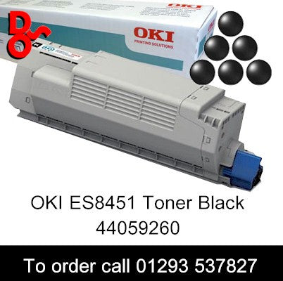 OKI ES8451 Toner 44059260 Black Genuine OKI Executive Series Toner Cartridge for sale Crawley West Sussex and Surrey