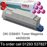OKI ES8451 Toner 44059258 Magenta Genuine OKI Executive Series Toner Cartridge for sale Crawley West Sussex and Surrey