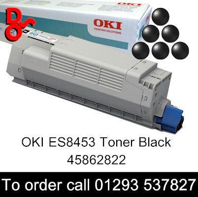 OKI ES8453 Toner 45862822 Black Genuine OKI Executive Series Toner Cartridge for sale Crawley West Sussex and Surrey