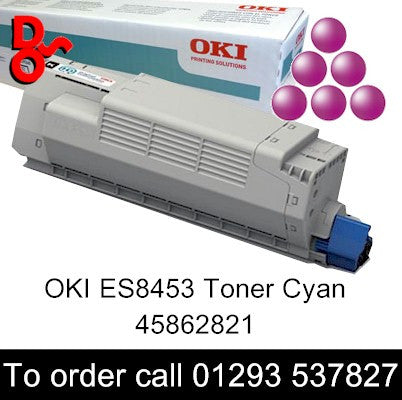 OKI ES8453 Toner 45862820 Magenta Genuine OKI Executive Series Toner Cartridge for sale Crawley West Sussex and Surrey