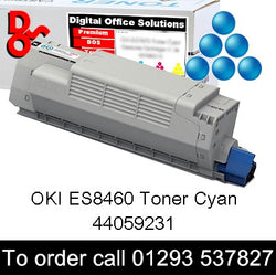 OKI ES8460 Toner 44059231 Cyan Compatible OKI ES-8460 Executive Series C Toner Cartridge