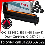 OKI ES8460 Drum 01247404 Black Genuine OKI ES-8460 Executive Series K EP Cartridge for sale, in stock at our Crawley warehouse today for fast, UK wide delivery with a 12 month guarantee