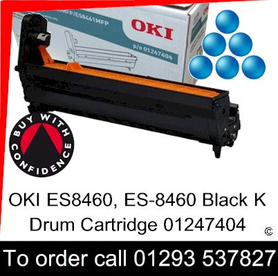OKI ES8460 Drum 01247403 Cyan Genuine OKI ES-8460 Executive Series C EP Cartridge for sale, in stock at our Crawley warehouse today for fast, UK wide delivery with a 12 month guarantee